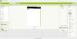Bildschirmfoto der Benutzeroberfläche der Software AppInventor im Modus Designerebene