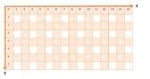 Bild des schmatischen, schachbrettartigen Aufbaus eines NXT-Displays mit x- und y-Achse beginnend in der linken oberen Ecke