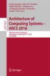 Bild vom Buch der Proceedings der ARCS2016