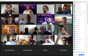 Übersicht von Zoom-Konferenz-Teilnehmern
